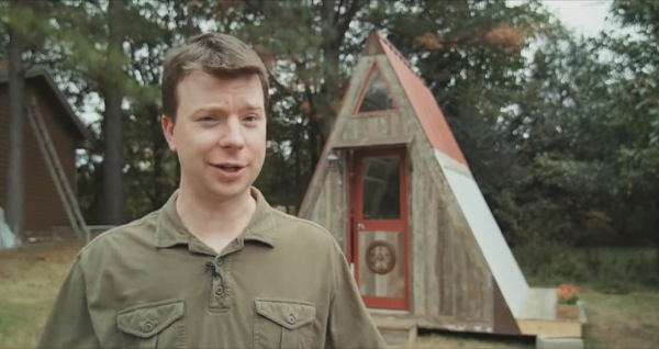 Transforming A frame Micro Cabin you can build for $1200