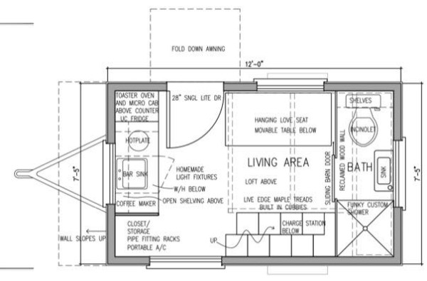 Denises 8x12 Tiny House Design – Tiny House Floor Plan Maker
