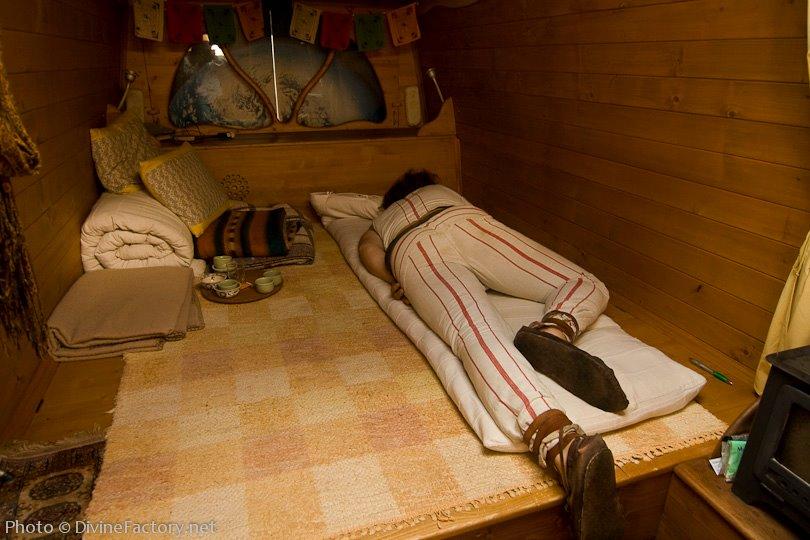 Man Turns Work Van Into DIY Motorhome Tiny Cabin