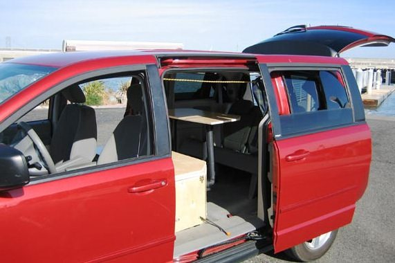 Dodge Minivan Turned To Micro Camper Rv 06