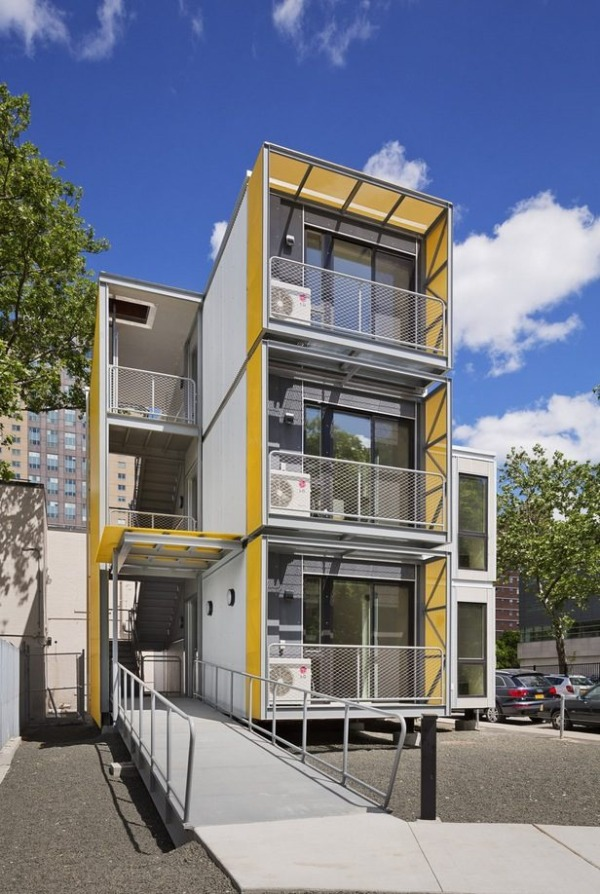 Prefabricated modular stackable tiny housing for Tiny home architects