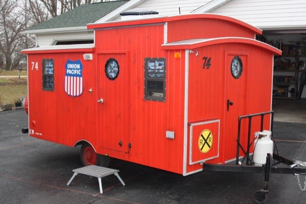 Diy Micro Caboose Camper The Loose Caboose