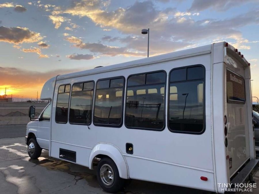 Off-Grid Cozy Short Bus Conversion For Sale 10