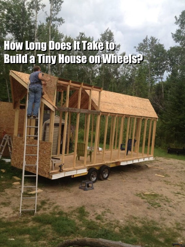 q a how long does it take to build a tiny house. Black Bedroom Furniture Sets. Home Design Ideas