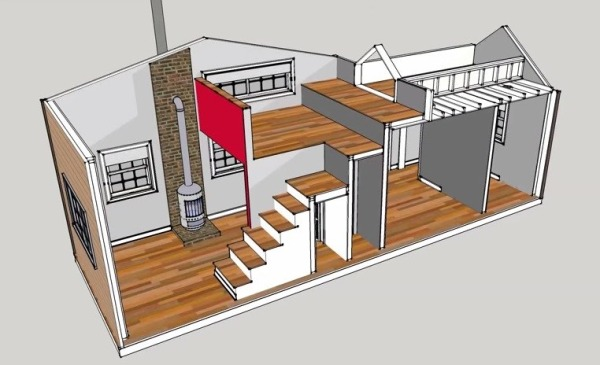 300 Sq Ft 10 x 30 Tiny House Design – 300 Sq Ft House Floor Plan