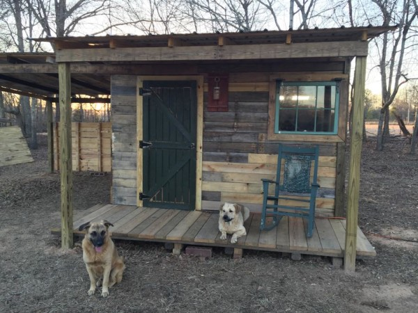 Man Builds 12x12 Tiny Pallet Cabin With Free Pallet Wood