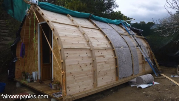 Man Builds a $1k Tiny Cabin using Free Plans