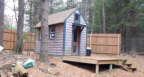 Man Builds And Lives In 90 Sq Ft Tiny House Mortgage Free