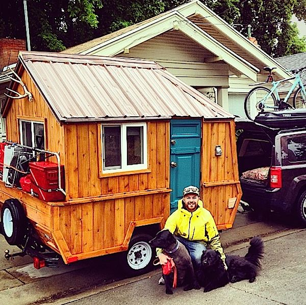 Stand Up Teardrop Trailer >> Man Converts Pop Up Trailer into Micro Cabin on Wheels
