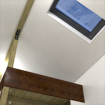 Skylight and Exposed Beams