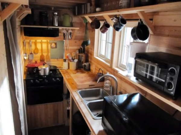 Beautiful and Practical Tiny House Kitchen