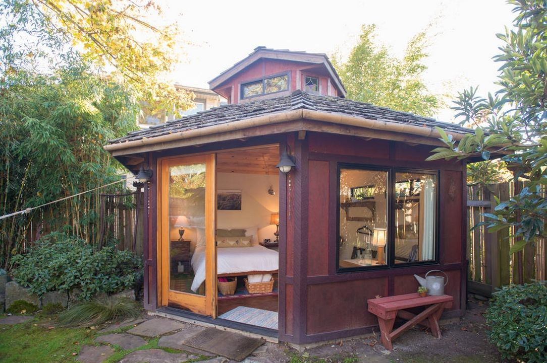 Yurt Like Micro Cabin Studio Vacation In Portland Oregon