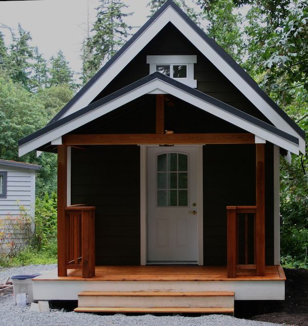 mulfinger tiny house front porch symmetrical - 25+ Small House Design Front Look  Background