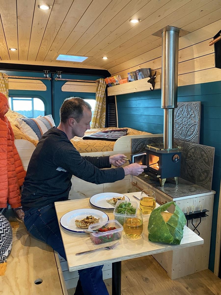 Travelling Part-Time in their DIY Van Conversion