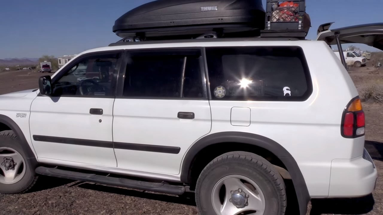 Nomadic Woman Living Traveling Out Of Her Montero Suv
