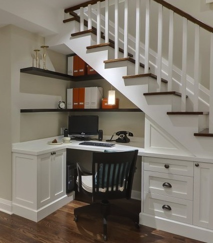 office under staircase