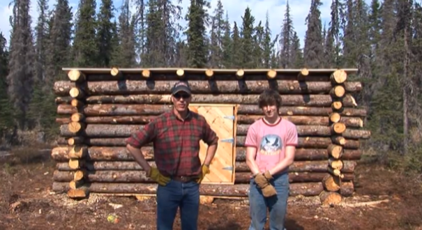 Do It Yourself Home Design: Tiny Pioneer Log Cabin In Alaska Built In 15 Days?