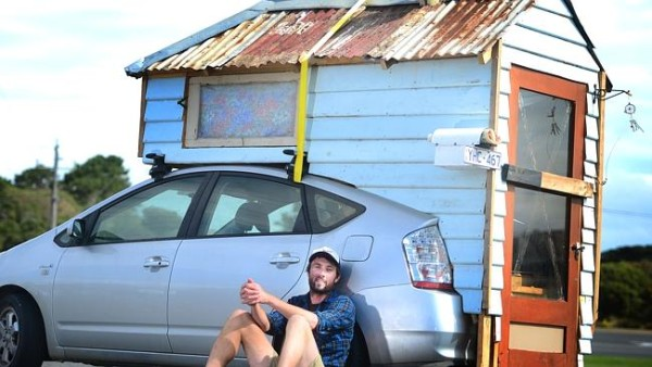 Man Builds DIY Prius Tiny House