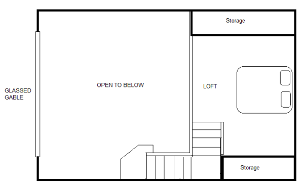 840 Sq Ft 20 X 30 Cottage For Two