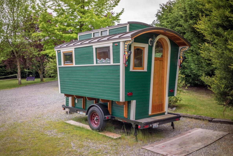 Man S Handmade Gypsy Wagon Micro Cabin