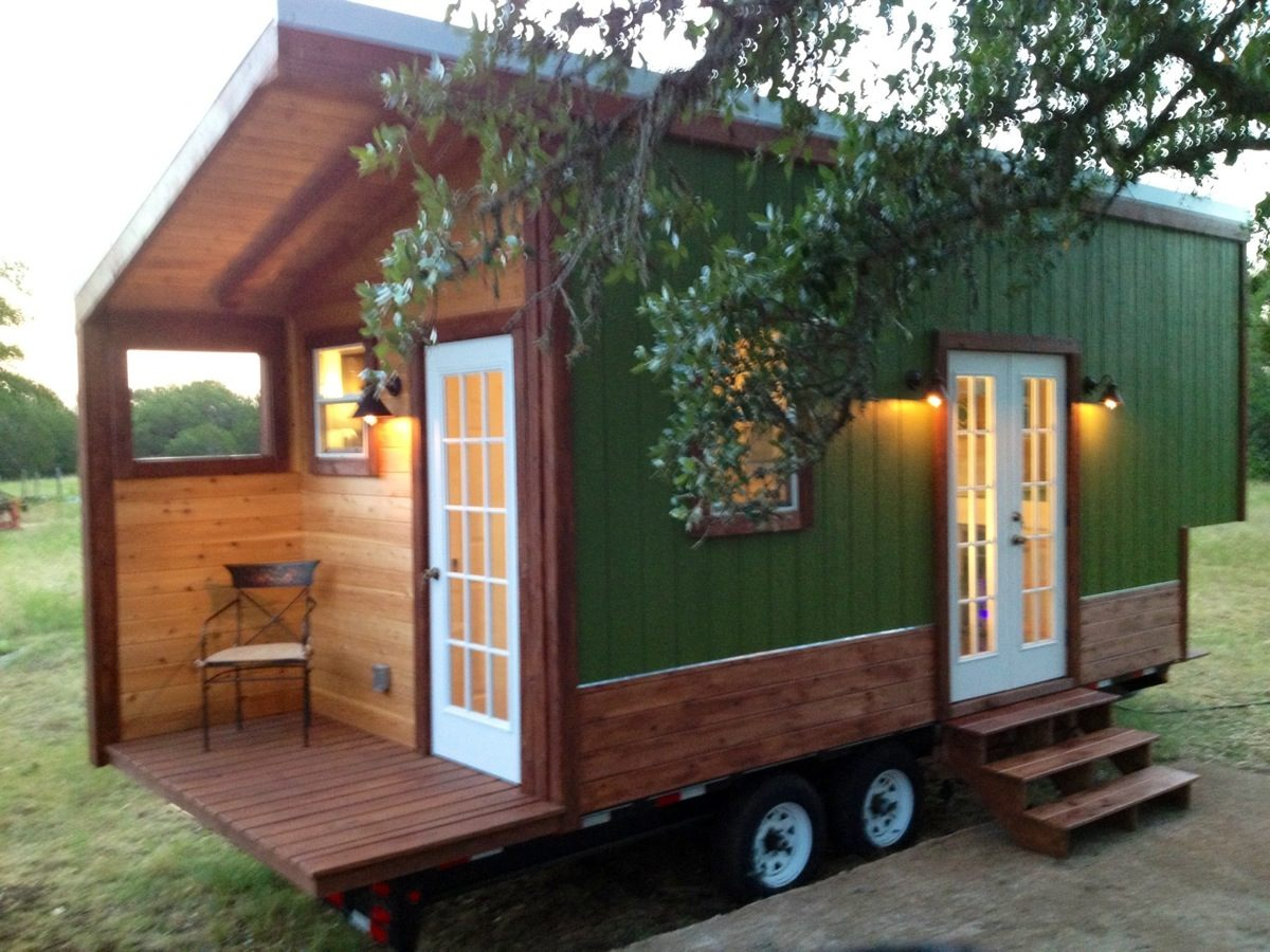Modern and rustic tiny house for sale in austin texas for Modern contemporary house plans for sale