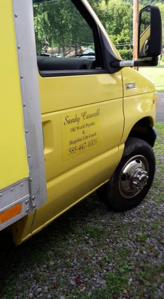 Sandy's 112 Sq. Ft. Yellow Box Truck Tiny House