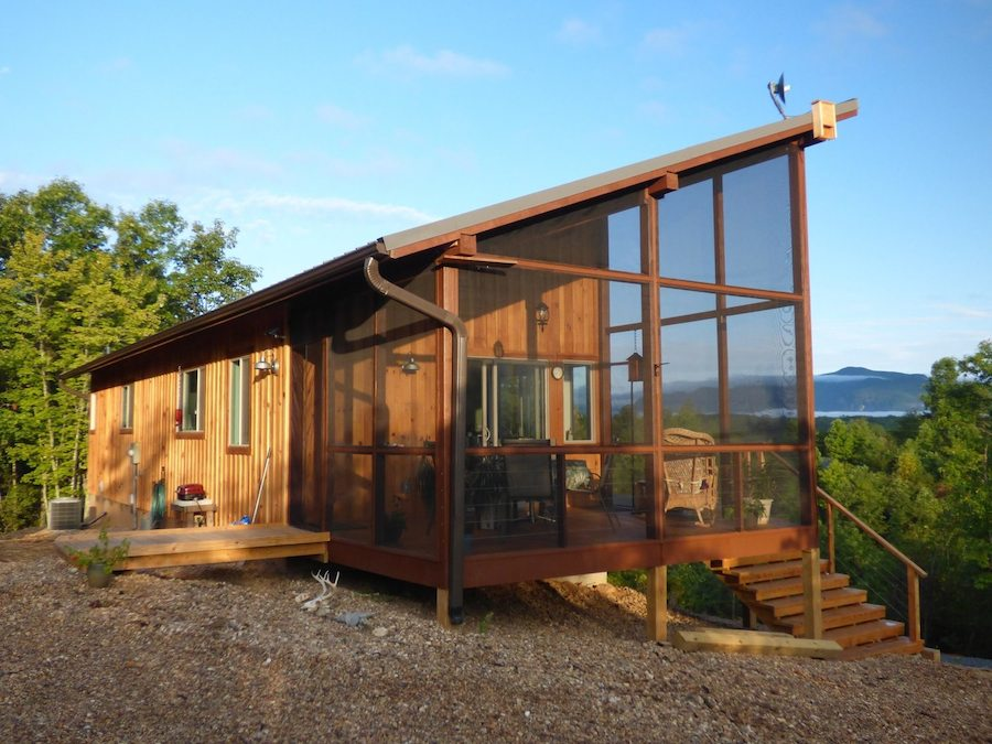Couple design/build a 704-square-foot cabin that fits them perfectly! Images © SimplyHomeNC.com