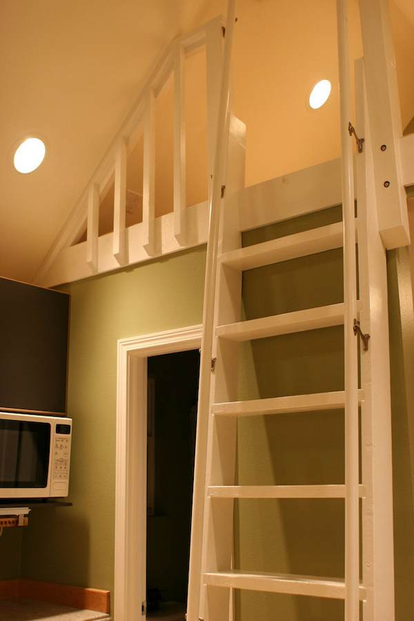 Home Library Ladder: Mulfinger Tiny House Pictures And Video Tour
