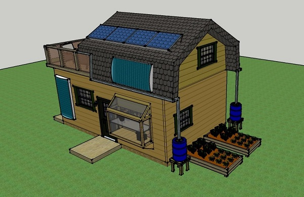 Misty 39 s 400 sq ft 16x25 solar off grid small house for Living off the grid house plans