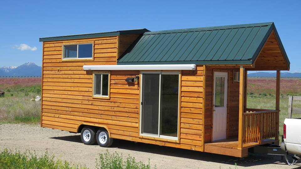 spacious tiny house living in rich 39 s portable cabins. Black Bedroom Furniture Sets. Home Design Ideas