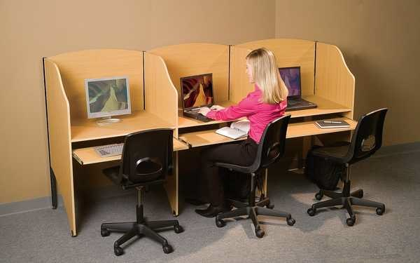 Study Carrels for Coworkspaces, Libraries, Internet Cafes, Learning Centers and More