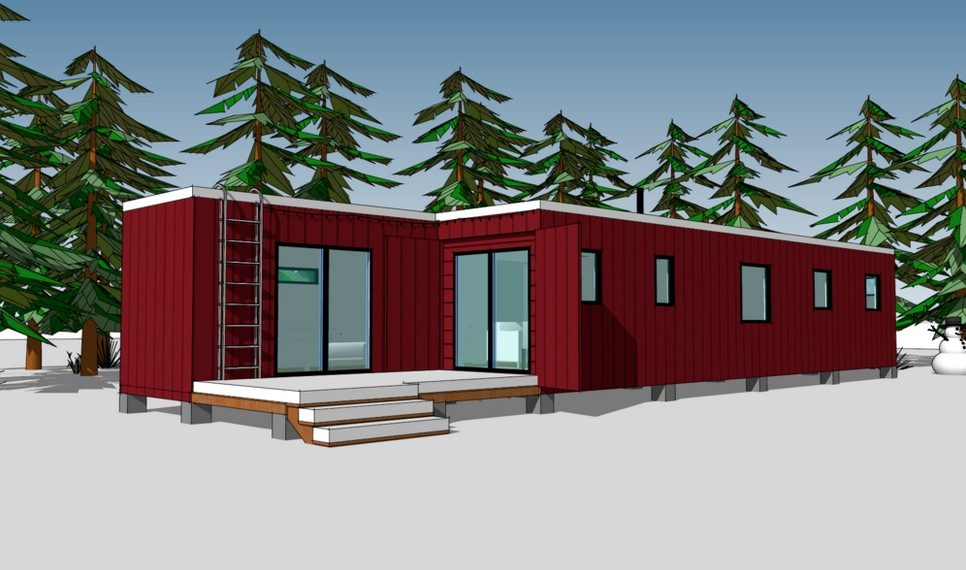 720 Sq Ft Shipping Container House Plans