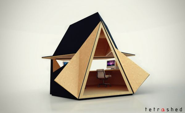 Tetra-Shed - Modular Building System - Backyard Office - Expandable