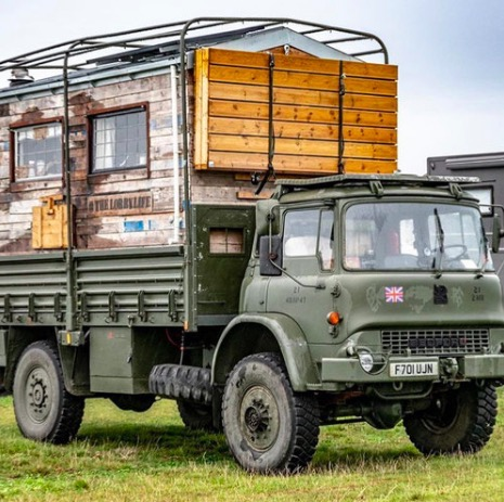 Couple Turn Army Truck into Tiny House