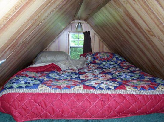 Sleeping Loft in the Plain Jane Tiny House on a Trailer: Loft