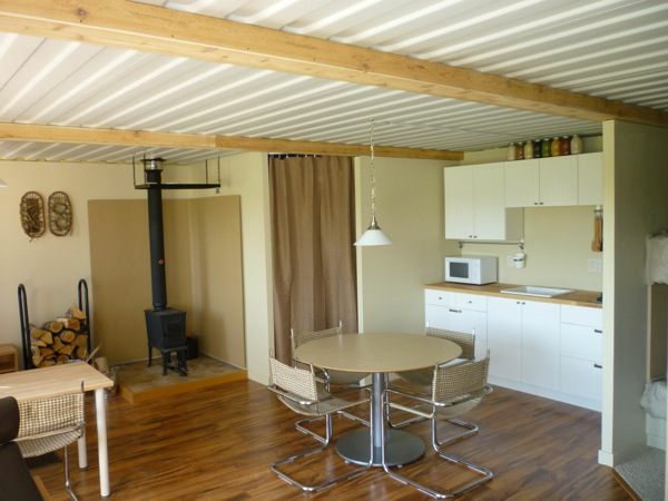 Tin Can Cabin Shipping Container Living Room Kitchen