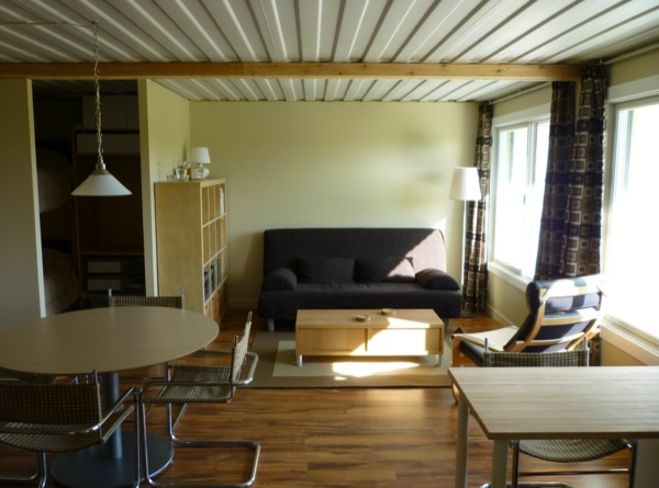 Tin Can Cabin Shipping Container Tiny House Living Room Couch