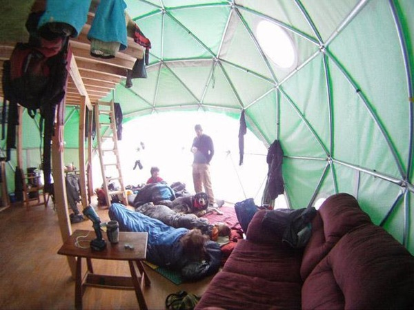 Tiny Geodesic Dome Home Interior