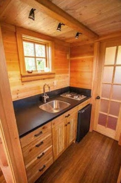 The Kingfisher Tiny House Kitchen & Top 18 Tiny House Kitchens: Which is your favorite?