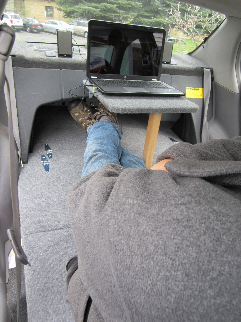 He turned his car into a stealthy micro camper...