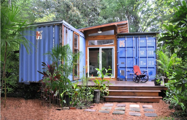 Beautiful Small House Built with Two Shipping Containers
