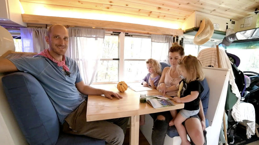 "Family of Four in ""Green Bean"": Their Bus Conversion Home 7"