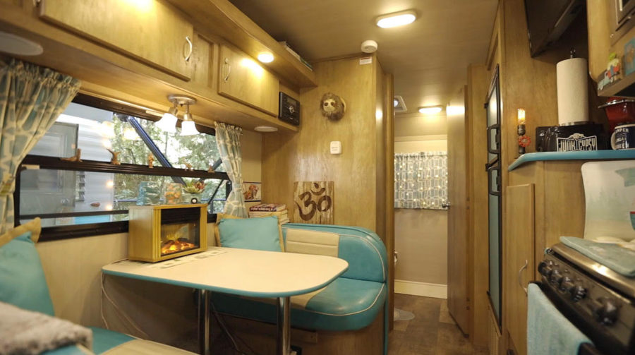 She Converted Two Vintage Trailers into Her Tiny Home Oasis