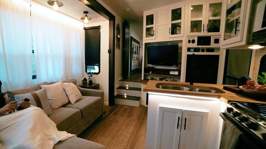 After A Cancer Diagnosis, They Turned This Vandalized Toy Hauler into a Tiny Home
