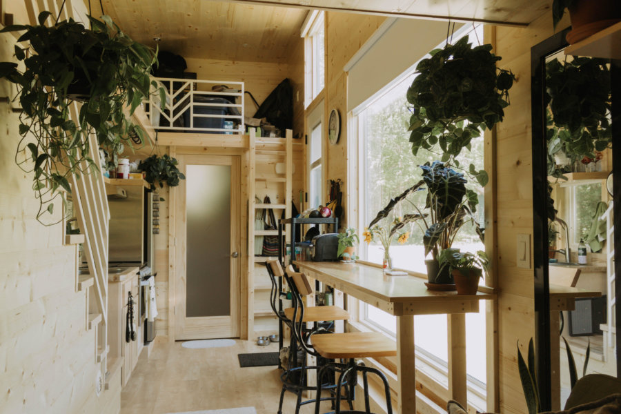 Grace's Plant-Filled Oasis Tiny Home in Massachusetts