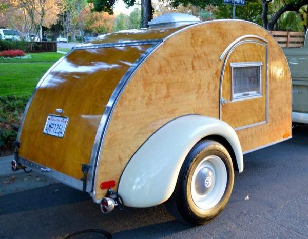 Wooden Teardrop Camper For Sale 002